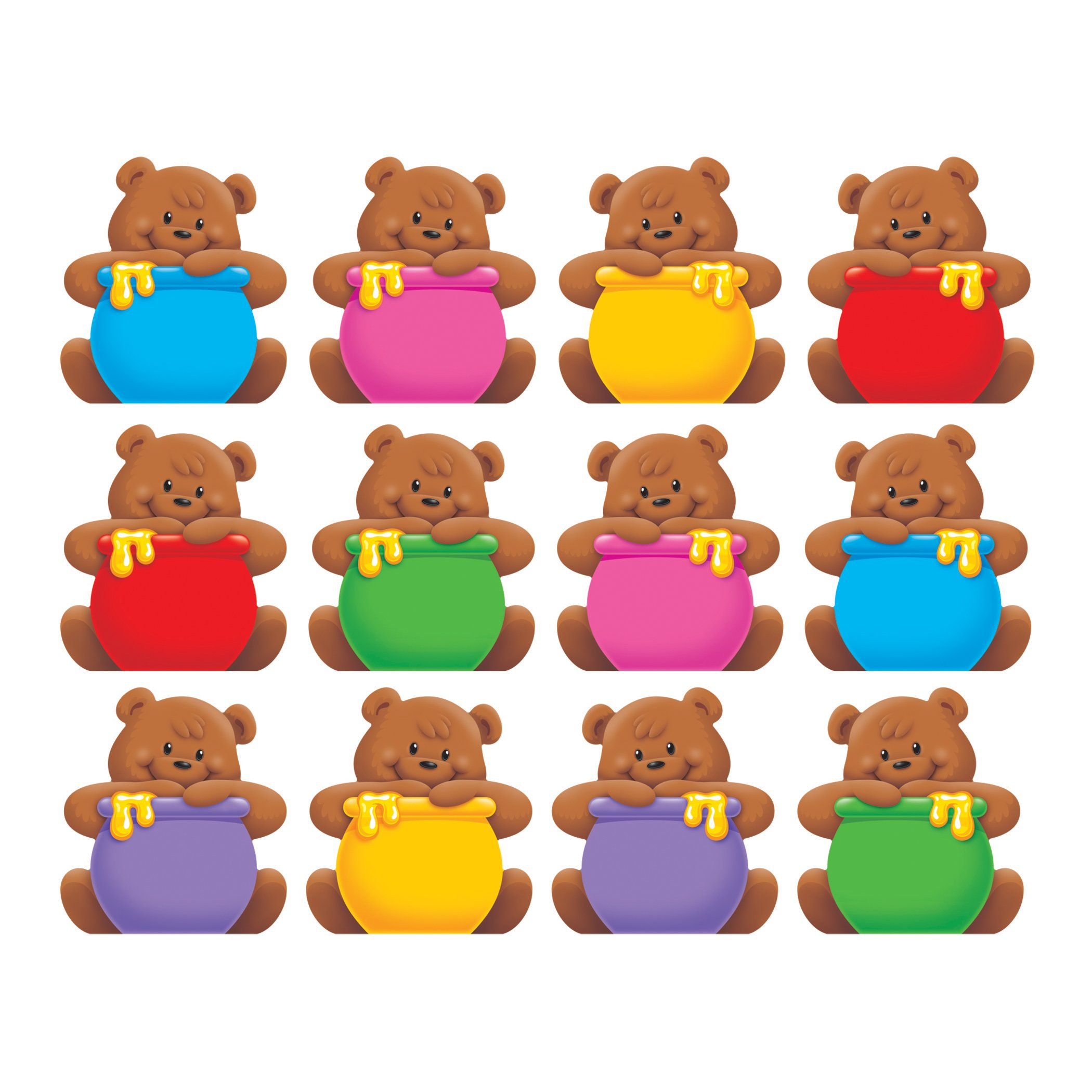 TREND enterprises, Inc. T-10820BN Bears Mini Accents Variety Pack, 36 Per Pack, 6 Packs by TREND Enterprises