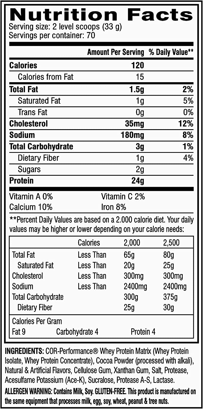 35 Whey Protein Isolate Nutrition Label - Labels Information List