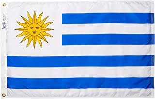 product image for Annin Flagmakers Model 199203 Uruguay Flag Nylon SolarGuard NYL-Glo, 2x3 ft, 100% Made in USA to Official United Nations Design Specifications