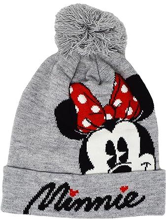 Mesdames Disney Minnie Mouse pour femme Gris Bonnet pour fille Bonnet à  pompon - gris - a4ac5681c95