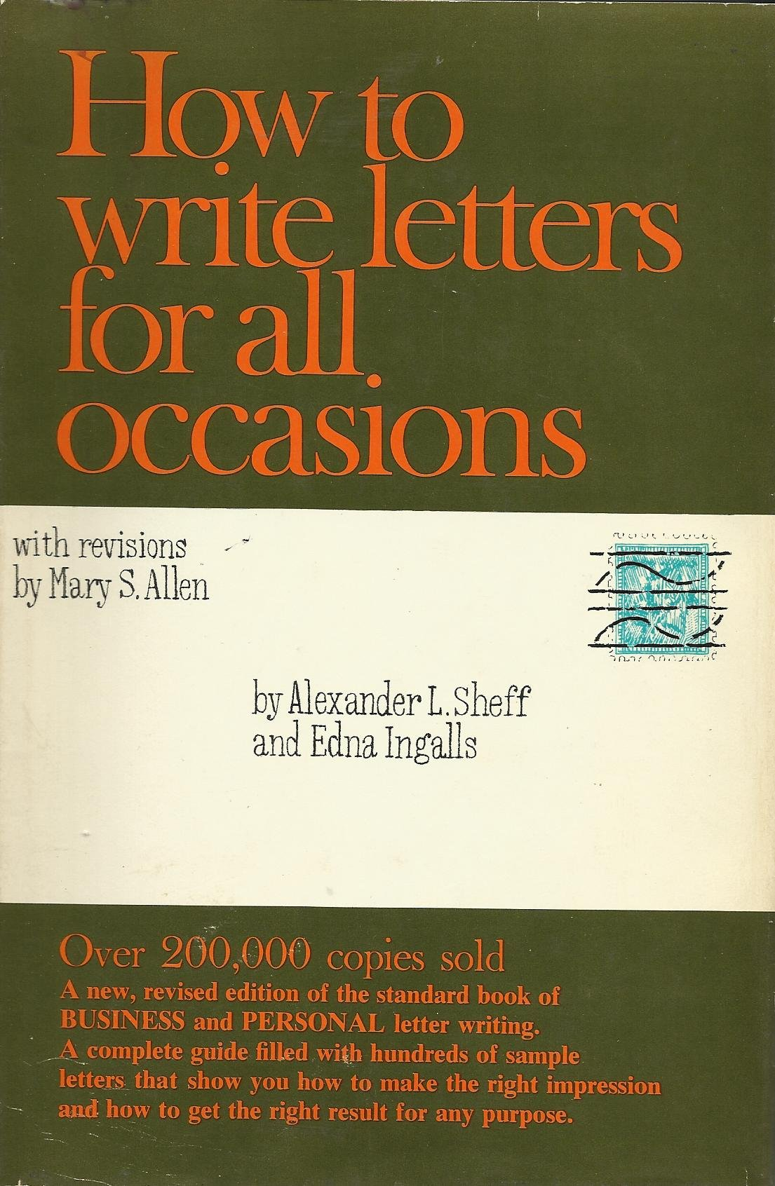 How To Write Letters For All Occasions Alexander L And Mary S Allen