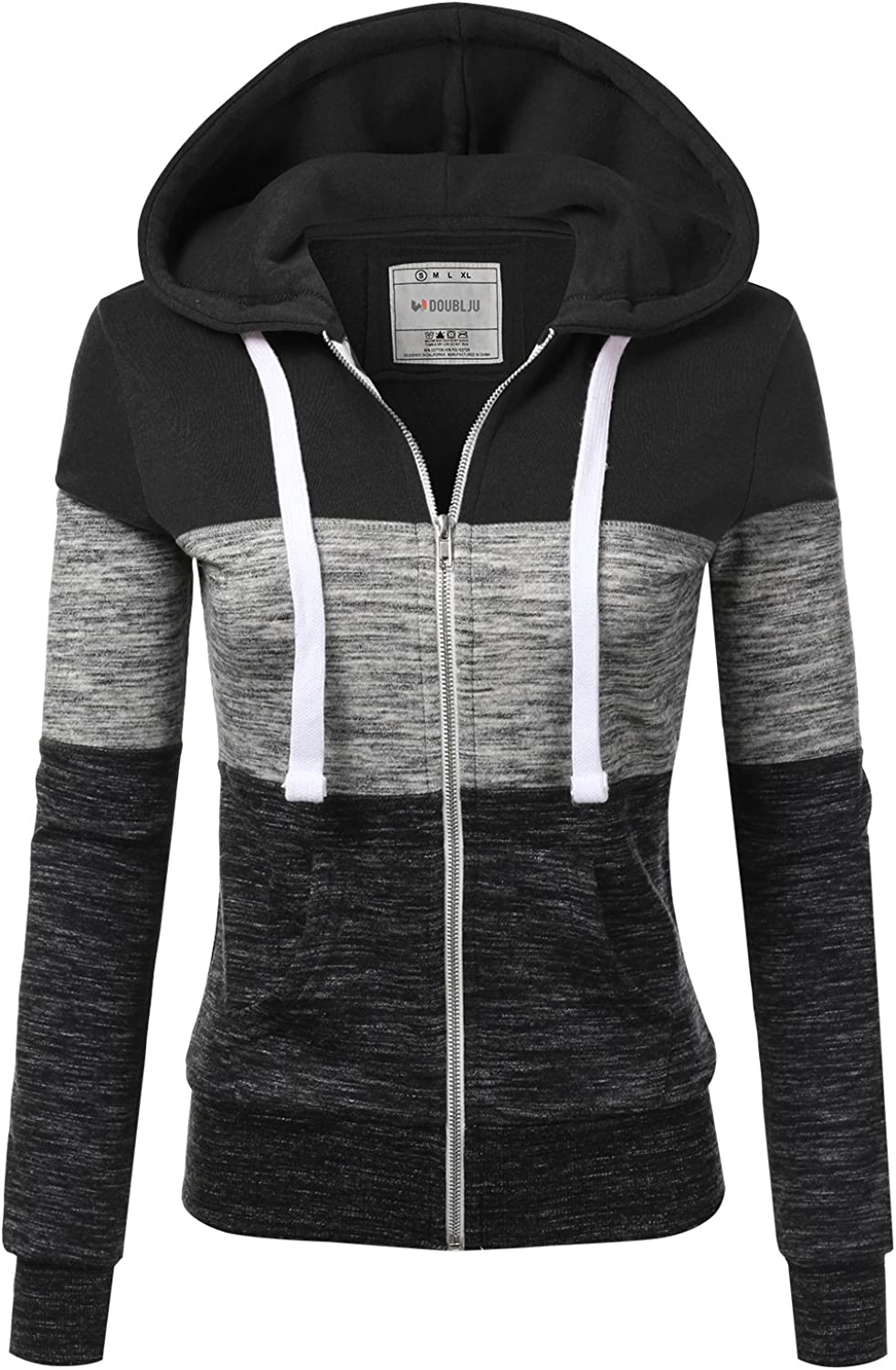Doublju Lightweight Thin Zip-Up Hoodie Jacket for Women with Plus Size at  Women's Clothing store