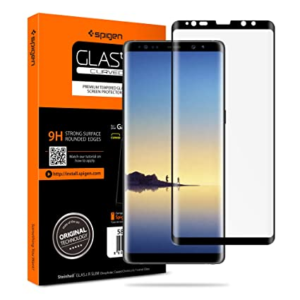 finest selection be0d9 367d7 Spigen Glas tR Curved Galaxy Note 8 Screen Protector [ Tempered Glass ] [  Case Friendly ] for Samsung Galaxy Note 8 (2017)