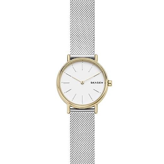 Skagen Reloj Analógico para Mujer de Cuarzo con Correa en Acero Inoxidable SKW2729: Amazon.es: Relojes