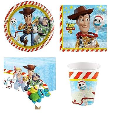 Kit Anniversaire Toy Story 4 Vaisselle Version Economique Pour 8