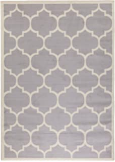 berrnour home homesense collection grey moroccan trellis design area
