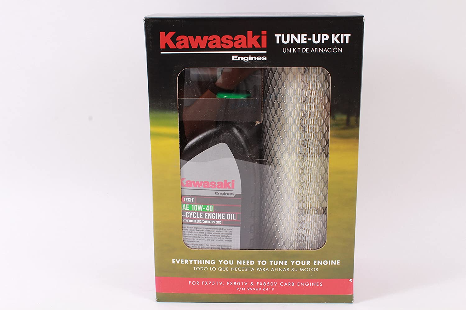 Amazon.com : Kawasaki Genuine 99969-6419 Tune Up Kit Fits FX751V FX801V FX850V Carb Engines : Garden & Outdoor