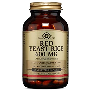 amazon com solgar red yeast rice 120 vegetable capsules health