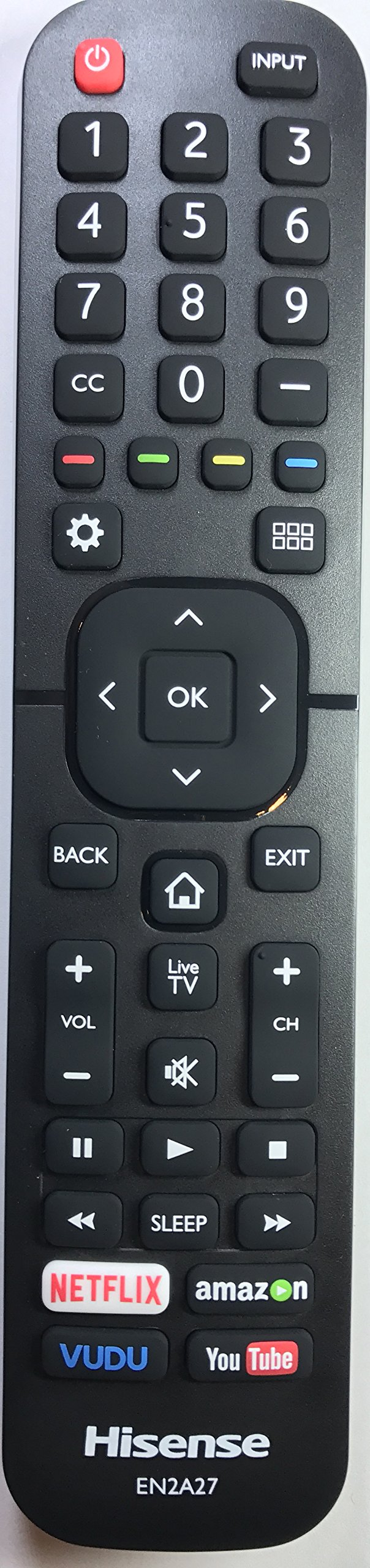 New USARMT EN2A27 (Year 2016) Remote for Hisense H5 Series FHD Smart TV Models Hisense 40H5B 43H5C 50H5C 55H5C by USARMT
