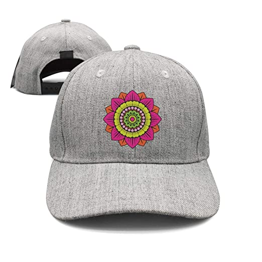 Sounthhery Unisex Beautiful Mandala Lotus Flower Sandwich Baseball Cap  Adjustable Snapback Dad Hat 145b6df6f167