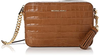 779df309beccce Michael Kors Ginny Embossed-Leather - Crossbody - Acorn - 32F7GGNM2E-532