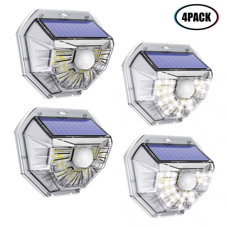 VOSONX Solar Lights Outdoor - Wireless Light Sensor & Motion Sensor Light, 40 LEDs Solar Powered LED Flood Light, IP67 Waterproof Home Decor Security Lights for Outside, Backyard, Front Door (4 Pack) by VOSONX