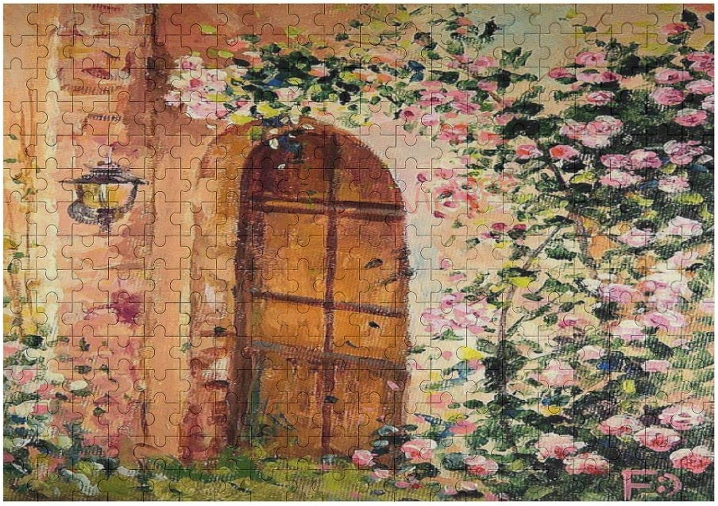 500 Pieces Jigsaw Puzzle Secret Garden. Roses. Painting with Flowers Jigsaw Puzzle for Child, Adults Home Decor Fun Game Toys Birthday Gift