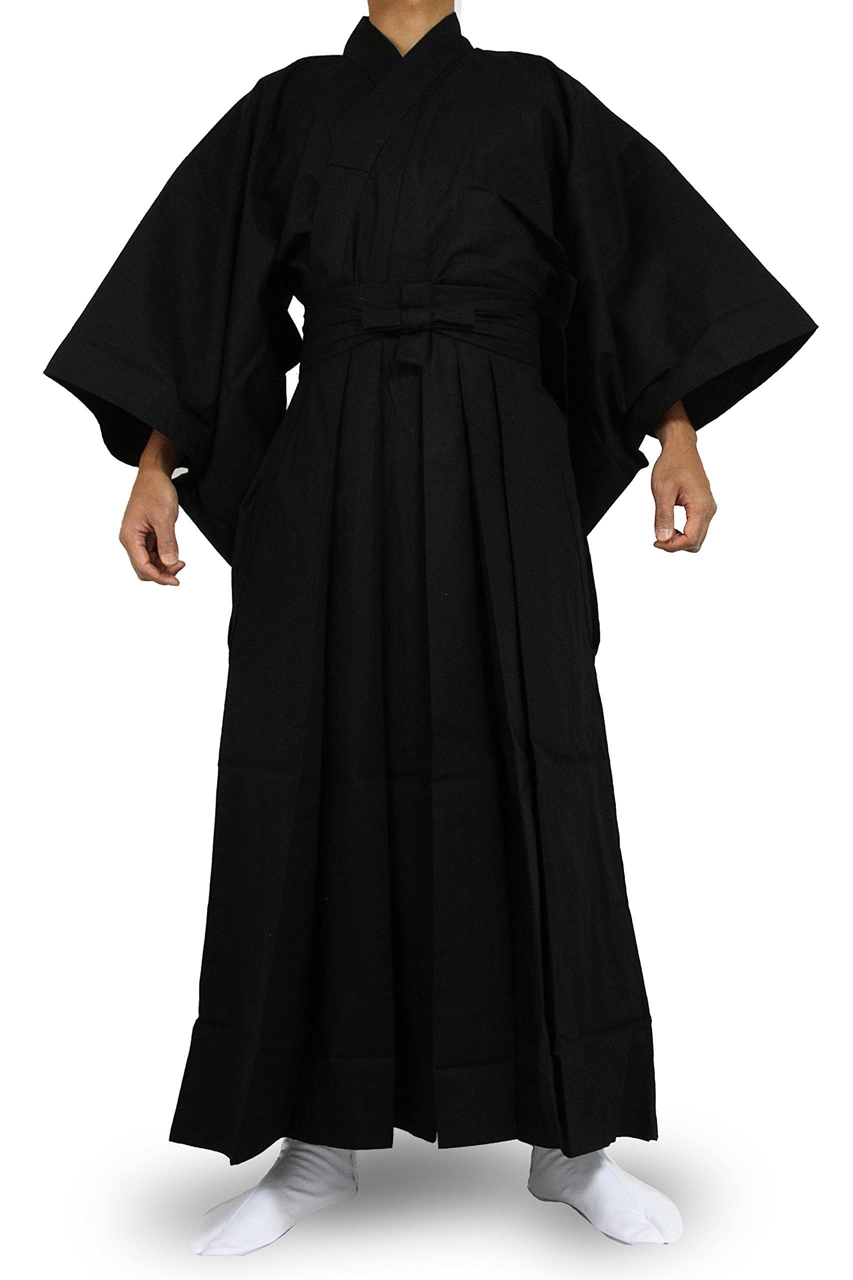 Edoten Japanese Samurai Hakama Uniform BK-BK M