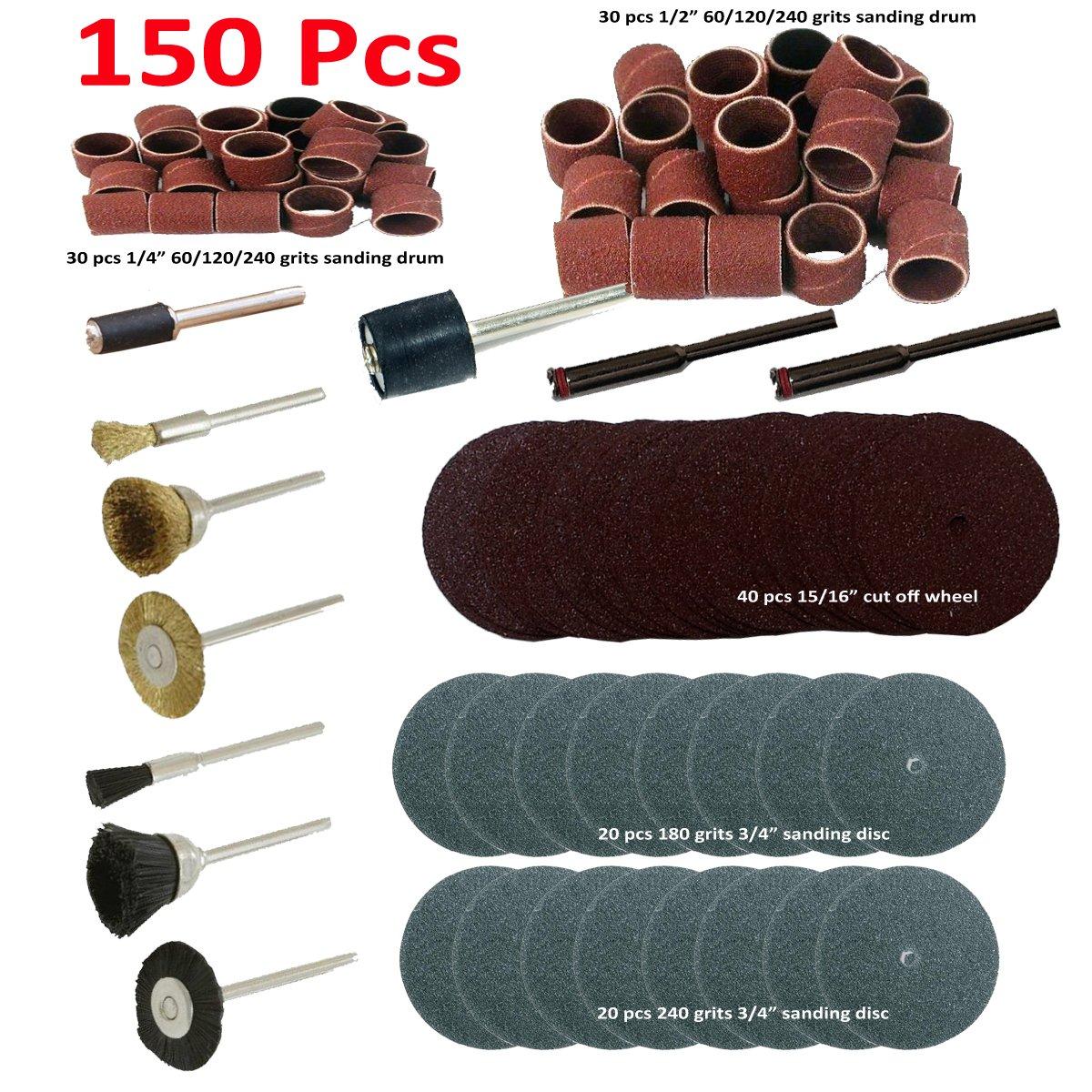 150X Fit Dremel Rotary Tool Accessories Kit Grinding Polishing Shank Craft Bits