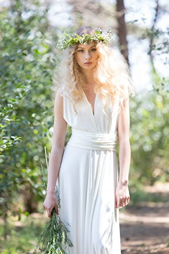 Amazon.com: Rustic chic bridal gowns, wedding dress, ivory bridal ...