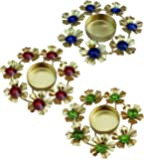ITOS365 Diwali Decoration Diyas Candle Holder Light Decoration, Set of 3