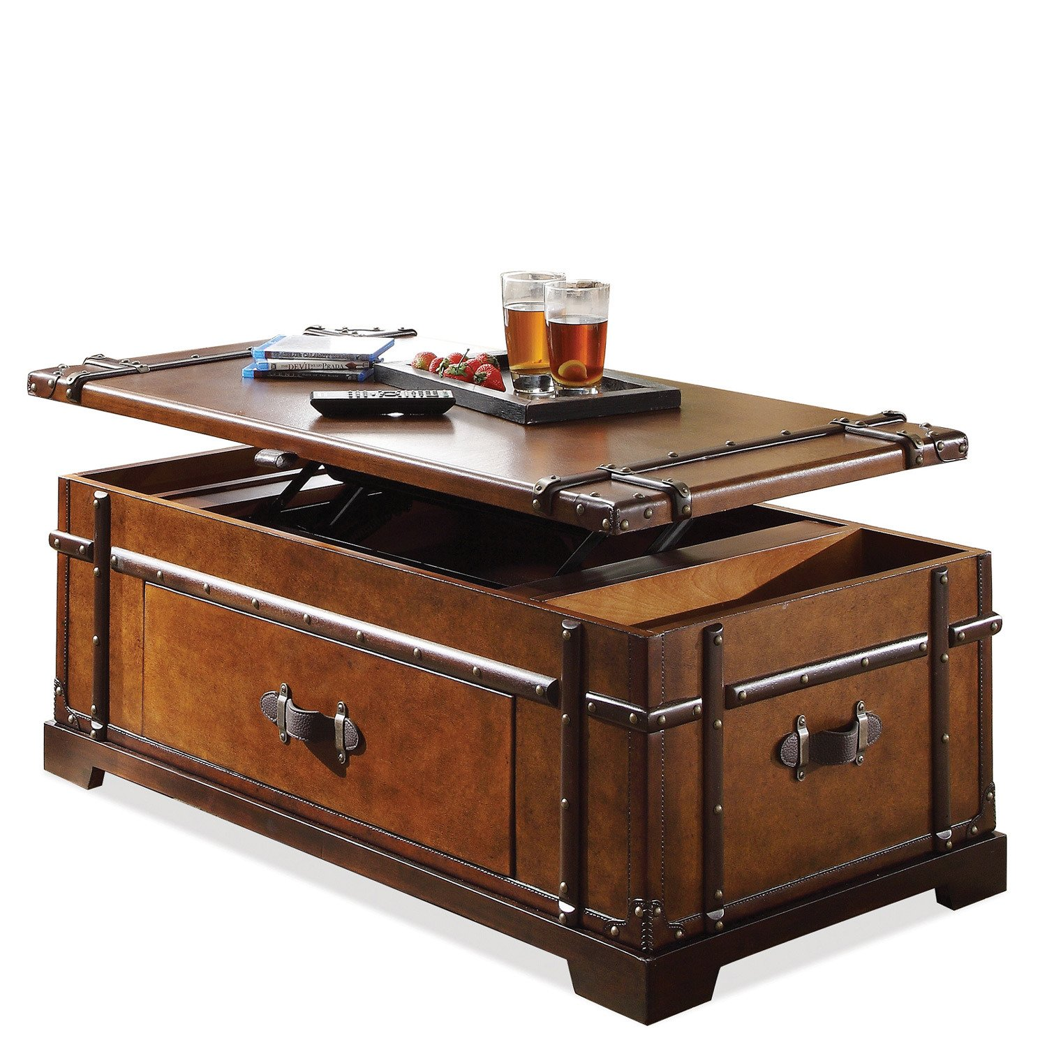 Amazon Steamer Trunk Lift Top Cocktail Table Kitchen & Dining