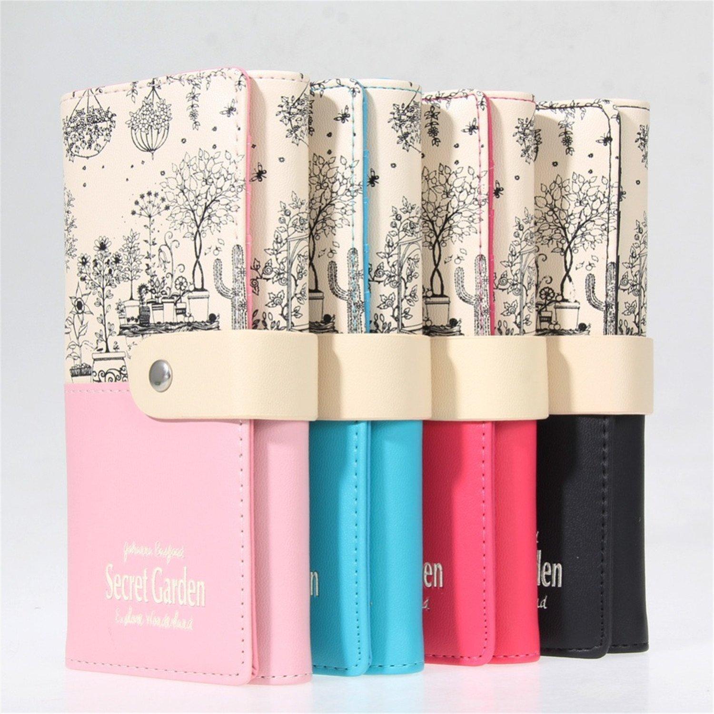 B dressy Women Gift Clutch Wallet PU Leather Print Purses ...