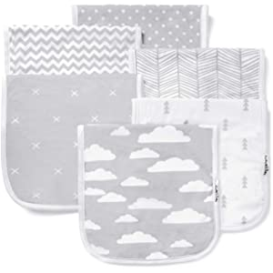 "Burp Cloths for Baby Boy & Girl - Ultra Absorbent Burping Rags - Anti Shrink Unisex Burpy Clothes - Super Soft Jersey Cotton, Large 21""x10"" - Thick for Newborn Cloth Diapers - 6 Pack by Baebae Goods"