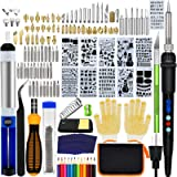 136PCS Wood Burning Kit, PETUOL Professional Soldering Iron Set with LCD Display Switch Adjustable Temperature 356-932…