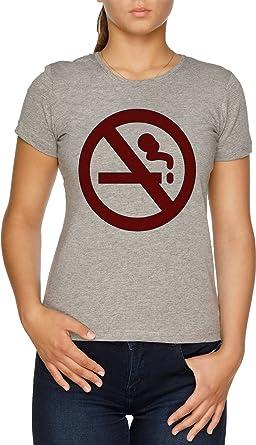 Vendax Marceline No De Fumar Camisa Camiseta Mujer Gris ...