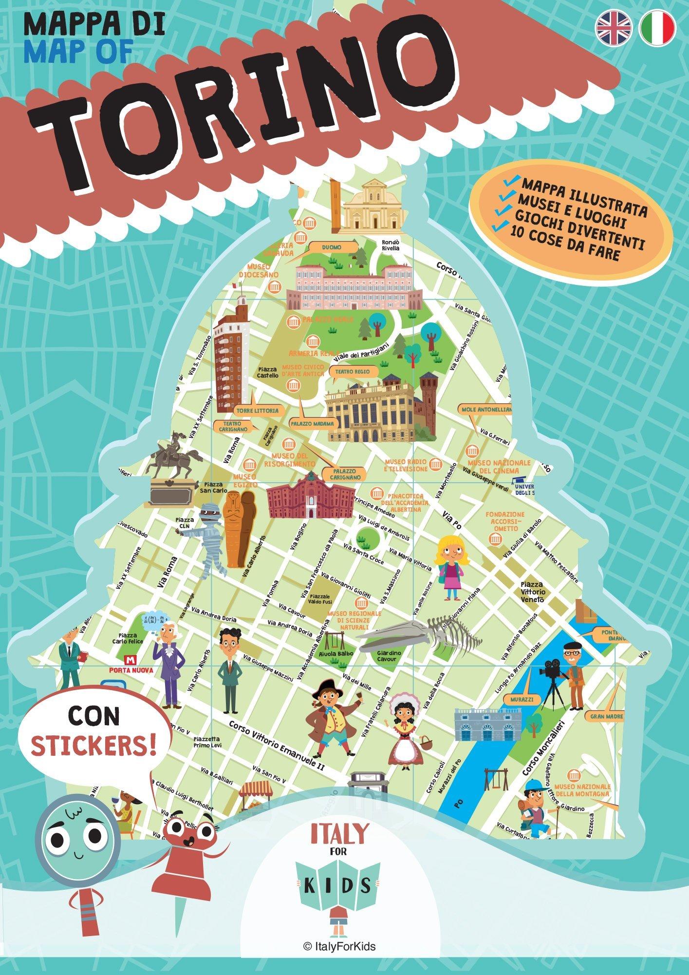 Cartina Italia Torino.Mappa Di Torino Illustrata Amazon It Dania S Piva D Libri