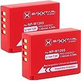 2x BAXXTAR Pro Battery for Fujifilm NP-W126 NP-W126s (real 1140mAh) for FinePix HS30EXR HS33EX X100F X-A5 X-A10 X-E1 X-E2 X-E3 X-ES2 X-H1 X-M1 X-Pro1 X-Pro2 X-T2 X-T3 X-T10 X-T20 X-T30 X-T100