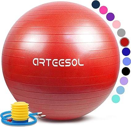 arteesol Bola de Ejercicio 45cm / 55cm / 65cm / 75cm Bola de Yoga ...