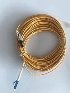 Jeirdus 15Meters LC to FC Fiber Optic Cable Jumper Optical Patch Cord Simplex Single-mode 9/125 LC-FC