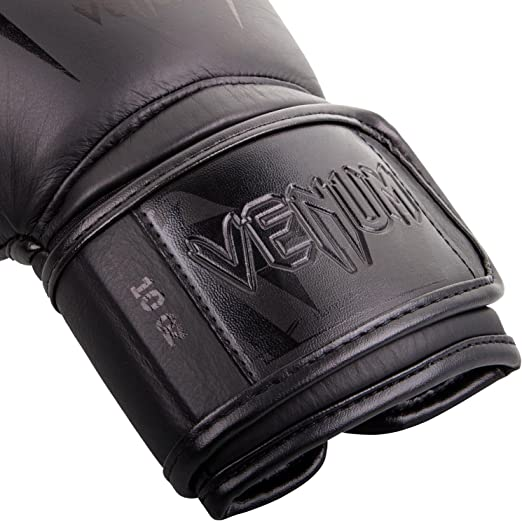 NAPPA LEATHER VENUM GIANT 3.0 BOXING GLOVES BLACK//SILVER
