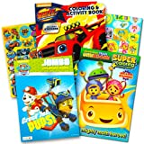 Nickelodeon Jr Coloring Book Super Set -- 3 Coloring Books Featuring Paw Patrol, Blaze, and Team Umizoomi!