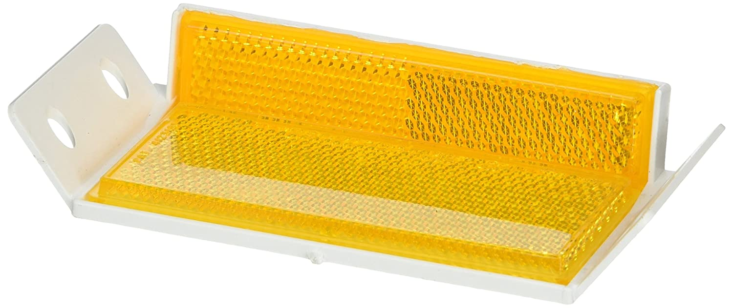 4-1//4 Length x 2-1//2 Width x 1 Height Tapco GR-1 Prismatic Guard Rail Delineator Amber 4-1//4 Length x 2-1//2 Width x 1 Height TAPCO Safety 102178