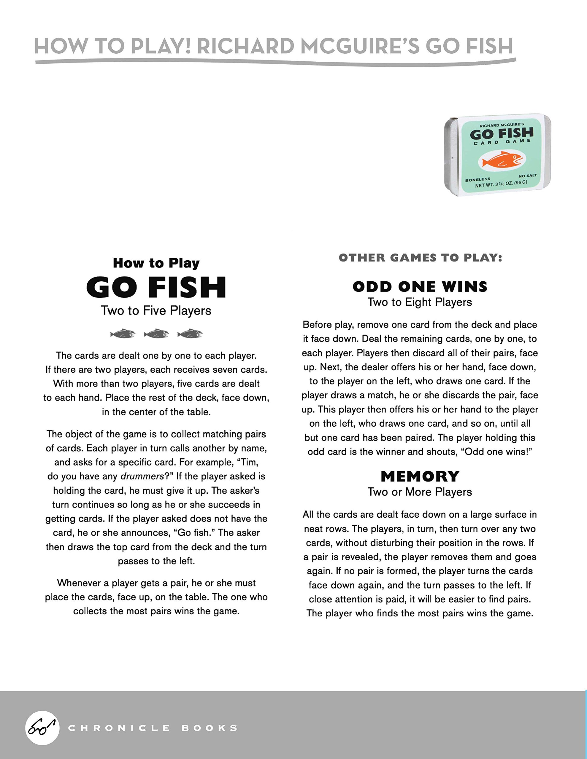 Richard Mcguire's Go Fish Card Game: Richard Mcguire: 9781452146553:  Amazon: Books