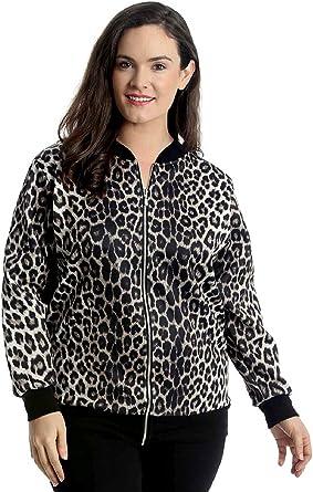 New Womens Plus Size Bomber Jacket Ladies Check Print Ribbed Hem /& Cuffs Zipper