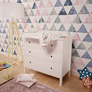 Polini niños cambiador para cómoda Hemnes IKEA en blanco, 1412.9: Amazon.es: Bebé