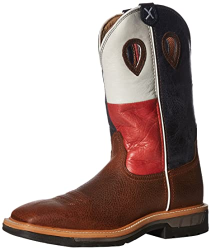 4ff24ebde13 Twisted X Men's Lite Texas Flag Pull-On Work Boot Square Toe