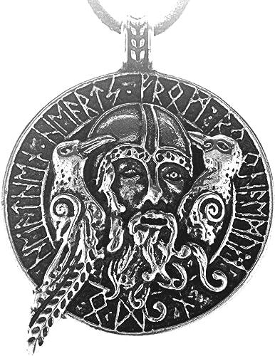 Kiss of Leather Odin mit Raben Anhänger aus 925 Silber mit