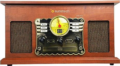 Sunstech PXRC5CDWD - Giradiscos (Bluetooth, CD, Cassette, Encoding ...