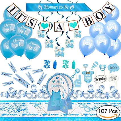 Furuix 32ps Baby Shower Decorations For Boy Its A Boy Bunting Banner