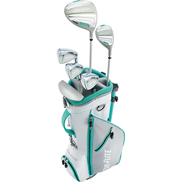 Amazon Com Top Flite Junior Girls Complete Golf Club Set Ages 9 12 Or 53 Up Kids Set Left Sports Outdoors