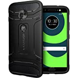 KAPAVER® Moto G6 Premium Tough Rugged Solid Black Shock Proof Slim Armor Back Cover Case for Moto G6 (Rugged)