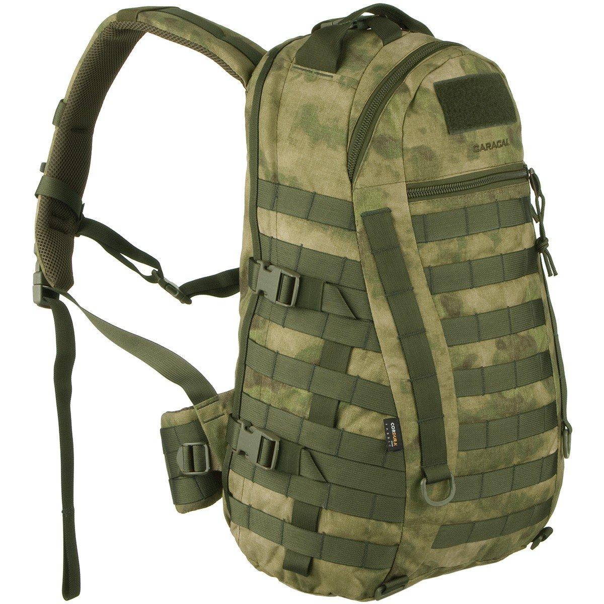 W!SPORT® CARACAL Rucksack 25 Liter (Militär Cordura MOLLE Marschrucksack Outdoor Camping Abenteuer)
