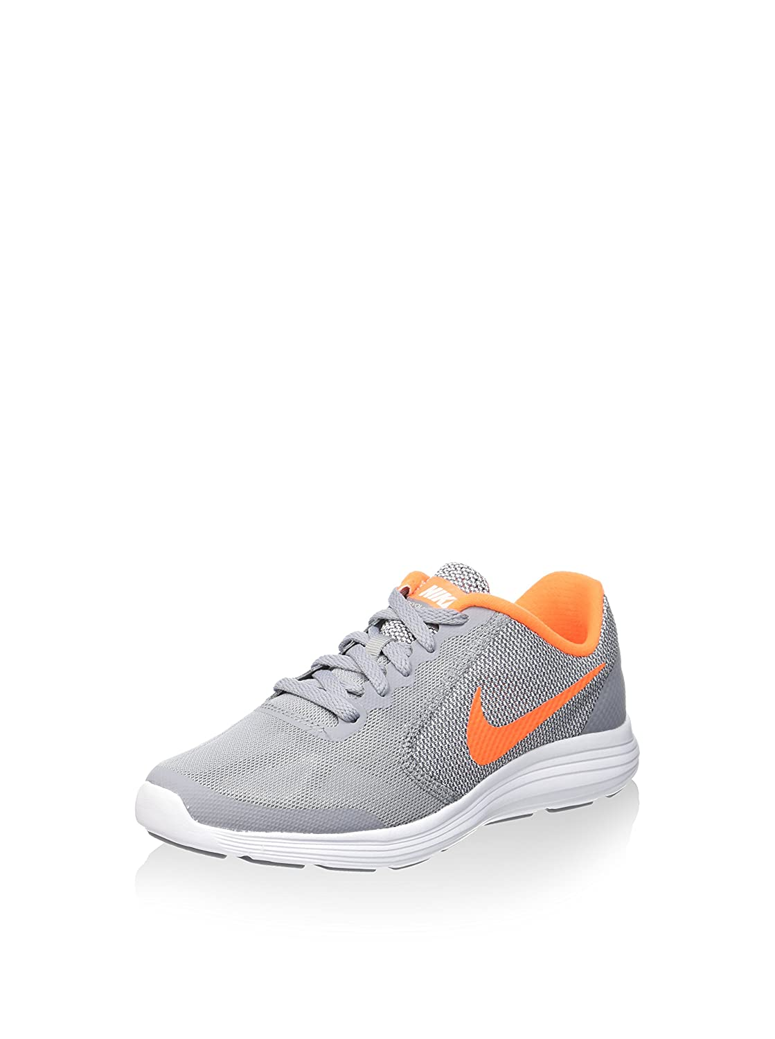 NIKE ' Revolution 3 (GS) Running Shoes B007I81HFE 6 M US Big Kid|Stealth/Total Orange/White