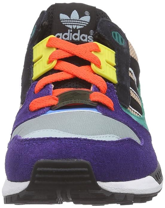 Adidas ZX 8000 - Zapatillas para Hombre, Color Morado/Gris/Verde/Negro, Talla 41 1/3