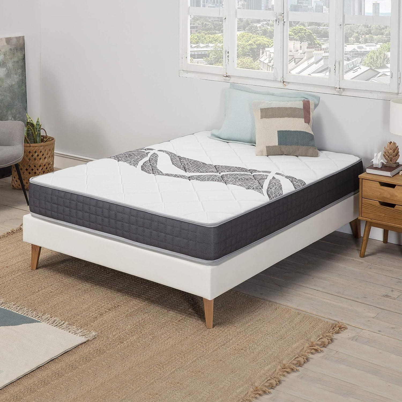 Fermet/é Moyenne r/éversible independance de Couchage marcKonfort Matelas Sleep Plus /à M/émoire de Forme 80x190 cm 16 cm de Hauteur Grande durabilit/é