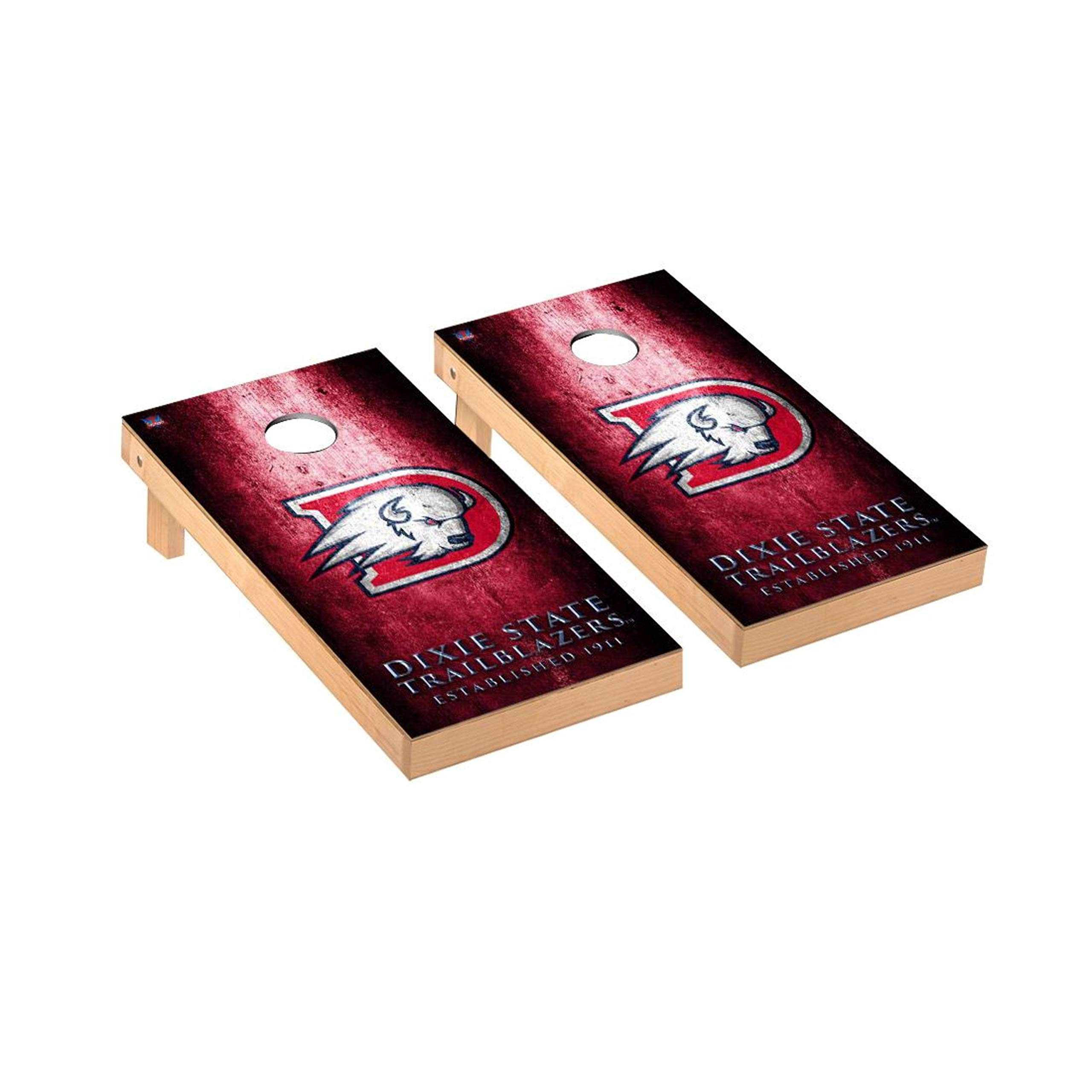 Victory Tailgate Regulation Collegiate NCAA Museum Series Cornhole Board Set - 2 Boards, 8 Bags - Dixie State Trailblazers by Victory Tailgate