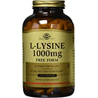 Solgar L-Lysine 1000 mg, 250 Tablets - Enhanced Absorption and Assimilation - Promotes Integrity of Skin and Lips…