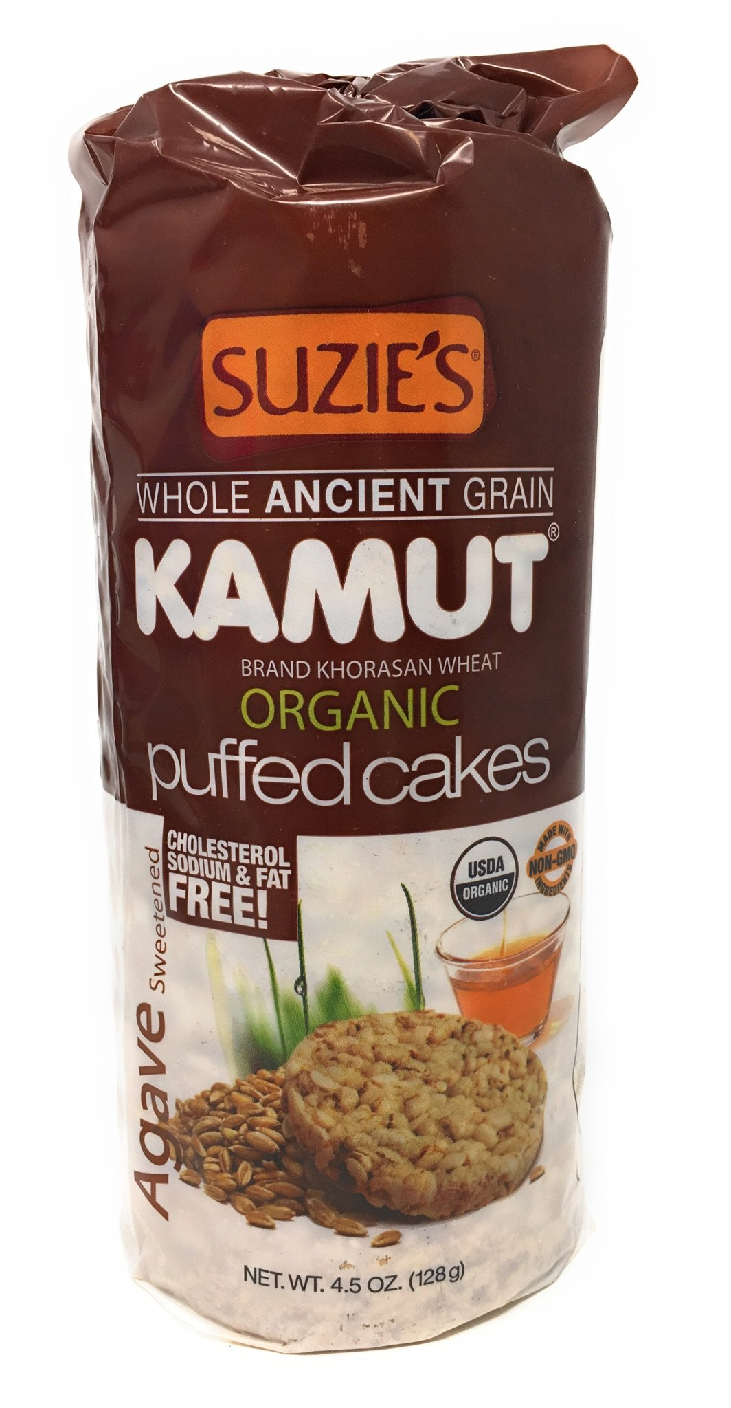 Suzie's Kamut Puffed Cakes, Agave Sweetened, 4.5-Ounce Bags (Pack of 12)