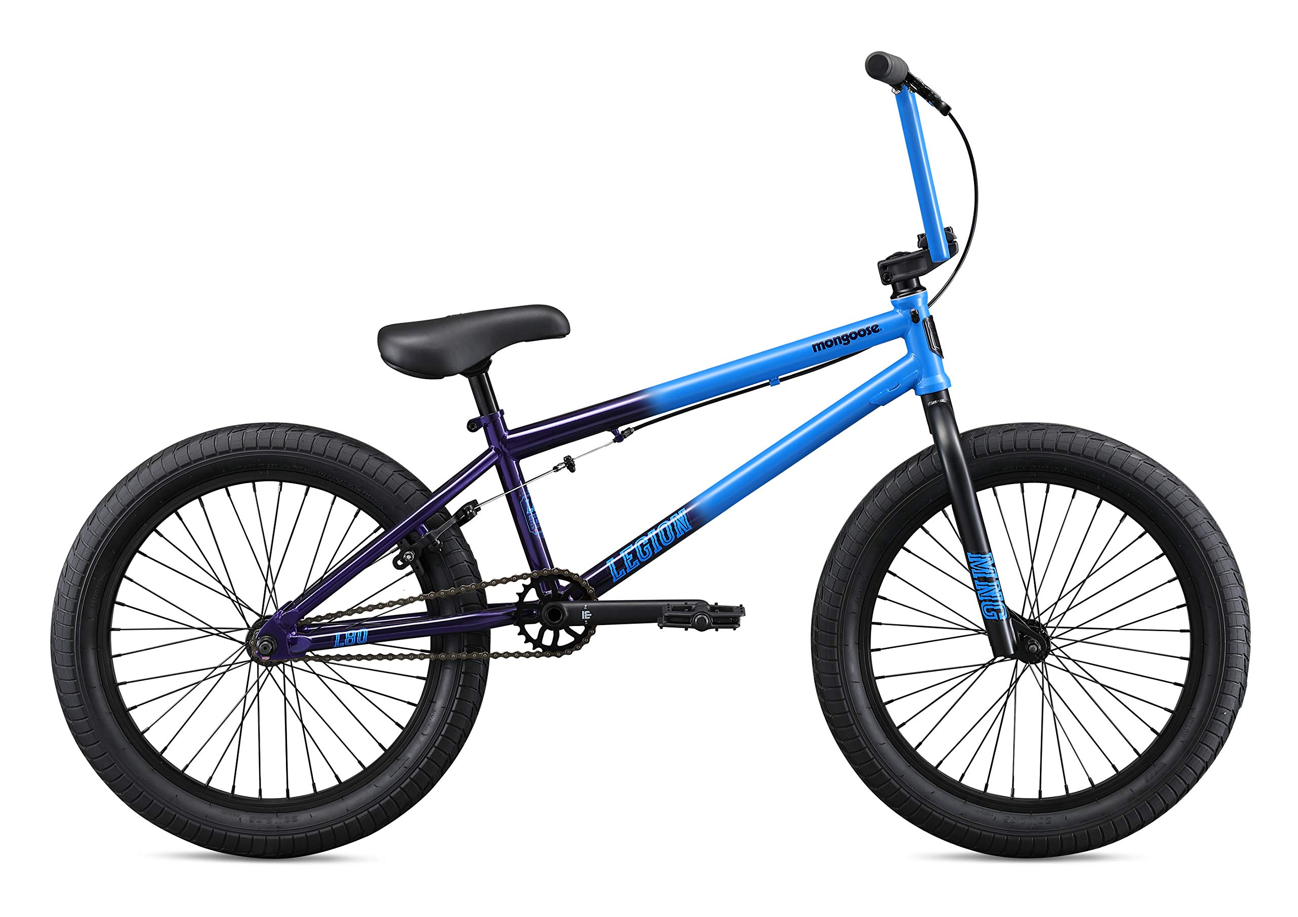 "Mongoose Legion L80 20"" Freestyle BMX Bike, Blue"
